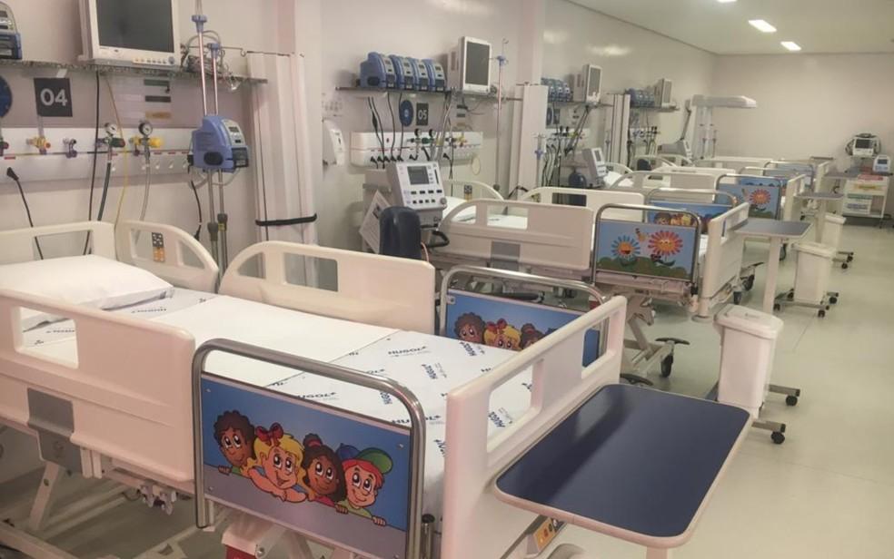 Leitos de UTI pediátricos são inaugurados no Hugol, em Goiânia — Foto: Sílvio Túlio/G1