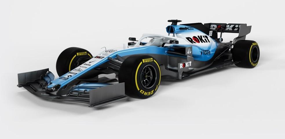 Novo carro da Williams para a temporada 2019 da F1 — Foto: Reprodução/Twitter
