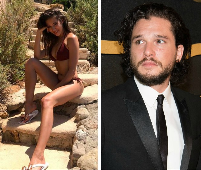 A modelo russa Olya Sergeevna e o ator Kit Harington (Foto: Instagram/Getty Images)