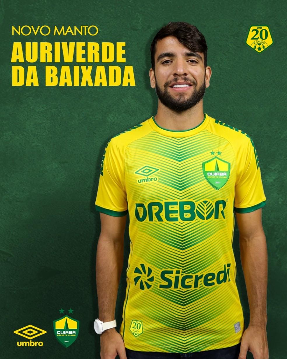 Cuiabá lançou novos uniformes para a temporada 2021 — Foto: AssCom Dourado