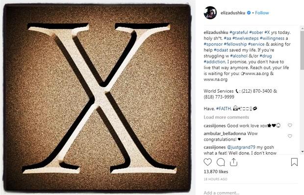 O post de Eliza Dushku (Foto: Reprodução Instagram)