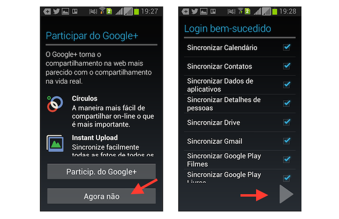 Finalizando a sincronização de uma nova conta ao aplicativo do YouTube no Android (Foto: Reprodução/Marvin Costa)