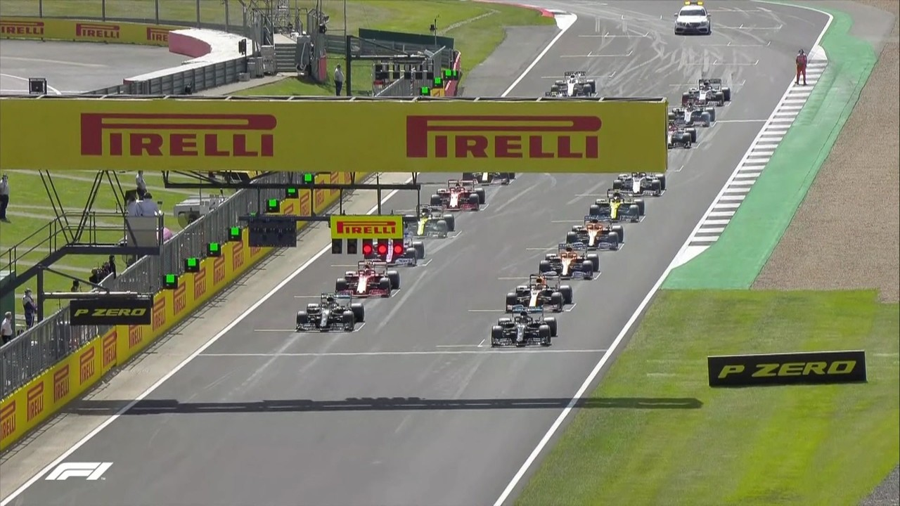 Veja a largada emocionante do GP da Inglaterra