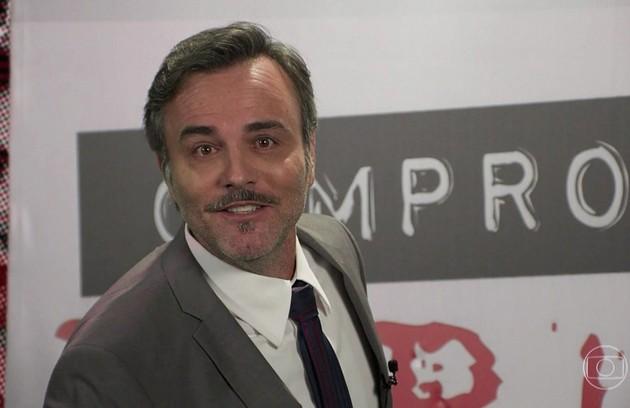 No sábado, Murilo (Marcelo Valle) anunciará que a PopTV foi comprada e será um canal de televendas, o Televendão.  (Foto: TV Globo)