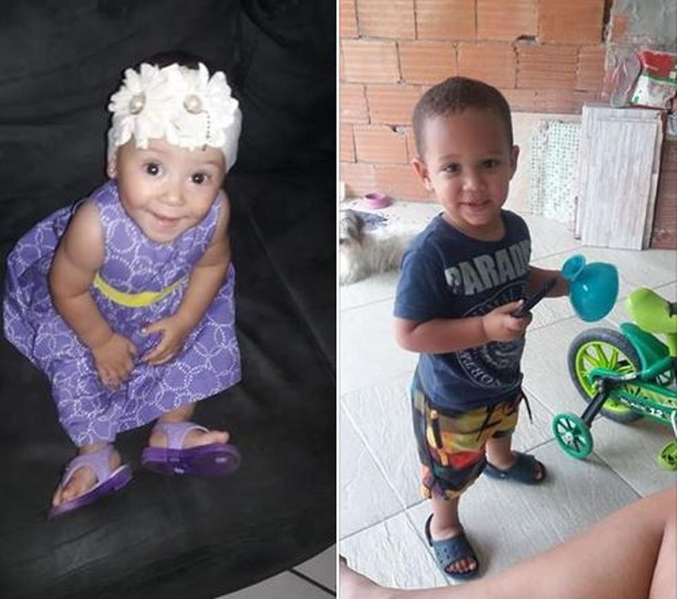 Nicole, de 10 meses, e Arthur, que festejou 3 anos na sexta-feira: vítimas do deslizamento no Morro da Boa Esperança — Foto: Reprodução/Facebook