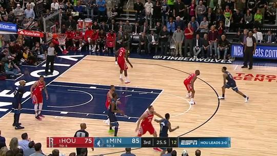 Melhores momentos: Houston Rockets 105 x 121 Minnesota Timberwolves pelos playoffs da NBA