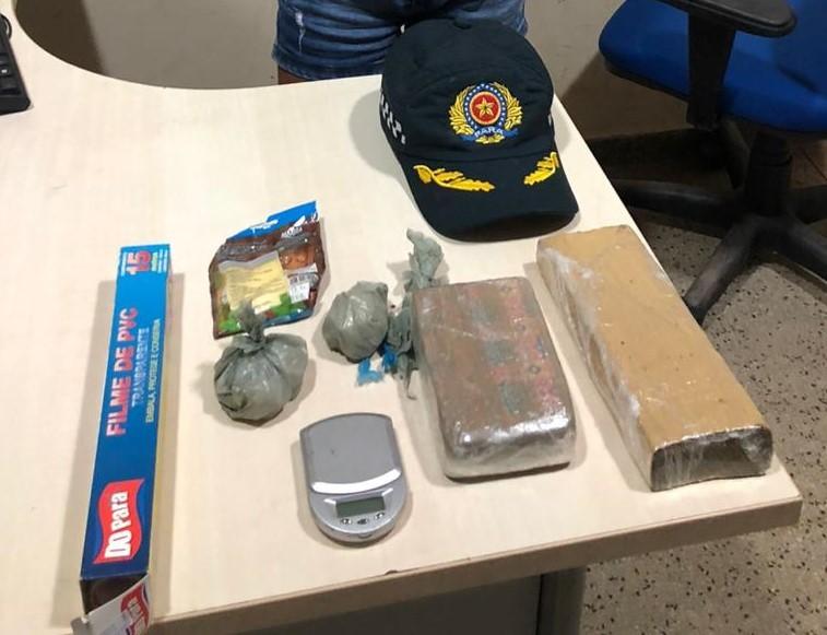 PM apreende 2 kg de drogas e mulher é presa em flagrante em Moju, no PA