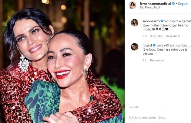 Sabrina Sato foi uma das que desejou força à modelo e atriz (Foto: Reprodução/Instagram)