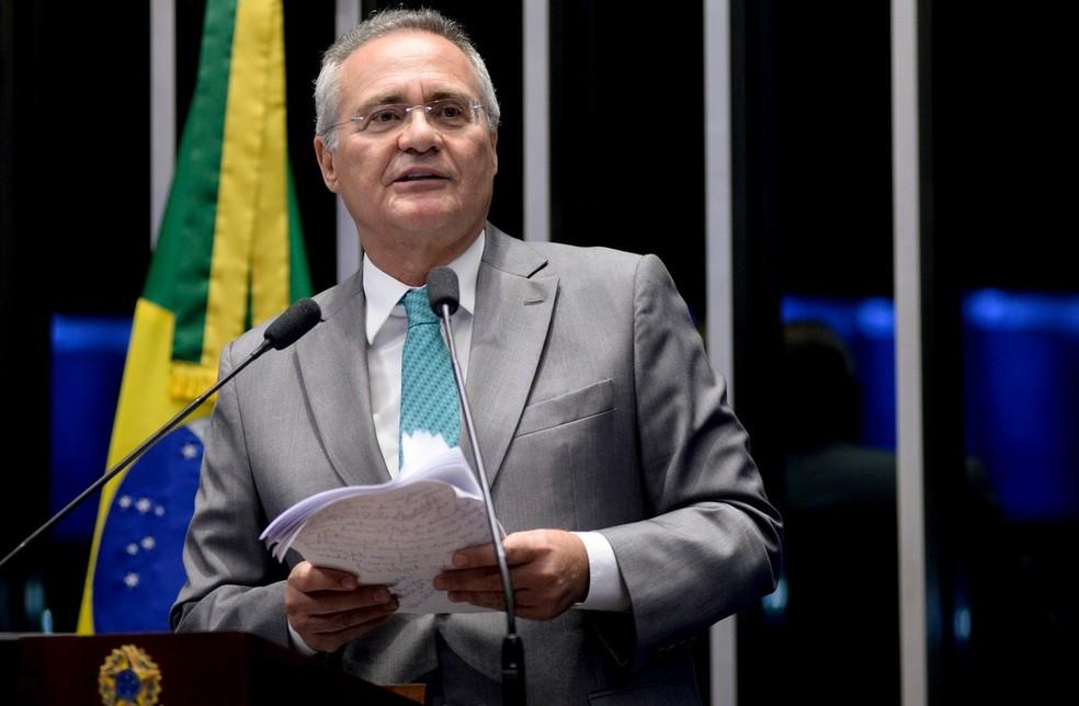 O senador Renan Calheiros (MDB-AL) â?? Foto: Jefferson Rudy/Agência Senado