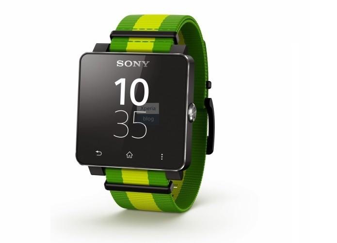 Relógio da Sony terá versão verde e amarela (Foto: Reprodução/Xperia Blog)