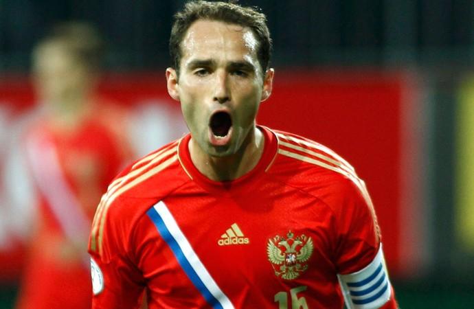 Shirokov rússia gol azerbaijão eliminatórias (Foto: Agência Reuters)