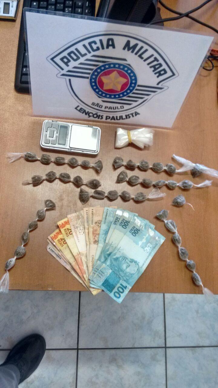 Jovem é presa suspeita de tráfico de drogas em Lençóis Paulista