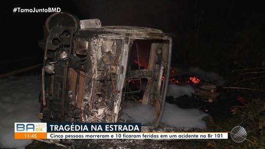 Vítimas de acidente entre ônibus e carreta no sul da BA são identificadas