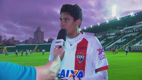 Jefferson analisa o empate do Atlético-GO diante do Figueirense