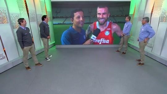 """Lucas Lima aprova estilo do Palmeiras com Mano e fala sobre Felipão: """"Sempre respeitei"""""""