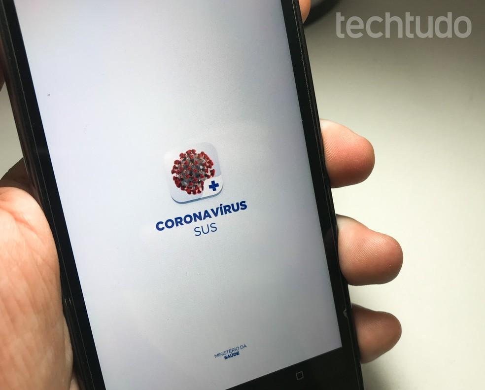 Aplicativo do Coronavírus do Ministério da Saúde — Foto: Rodrigo Fernandes/TechTudo