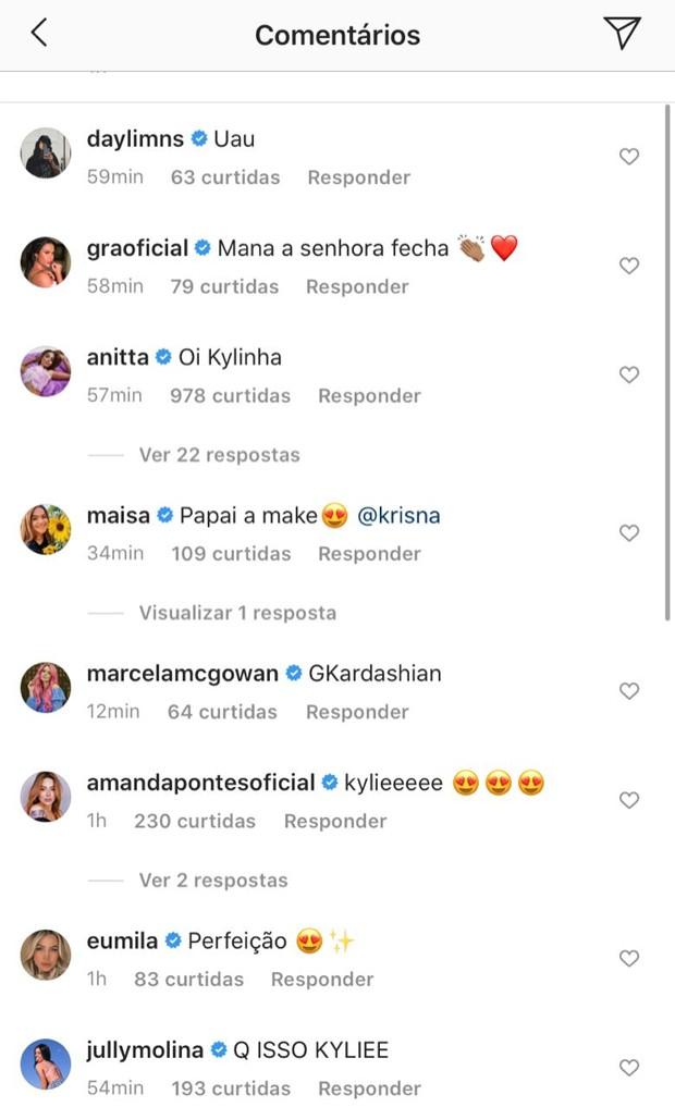 Comentários na foto de GKay (Foto: Reprodução/Instagram)