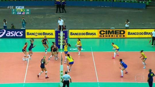 Brasil perde para os Estados Unidos no primeiro amistoso de vôlei feminino