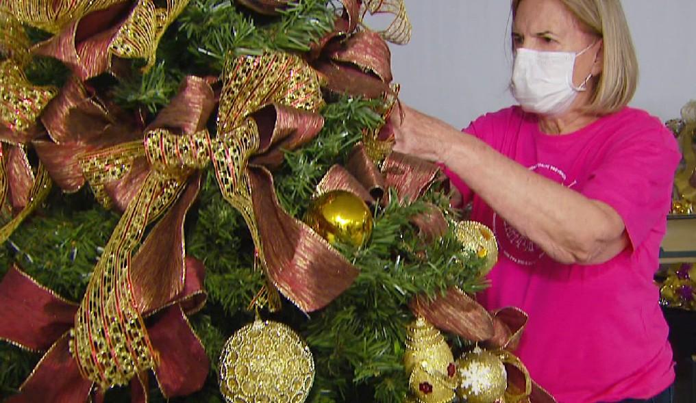 Projeto da Rede de Combate ao Câncer de Rio Claro aluga árvores de Natal decoradas