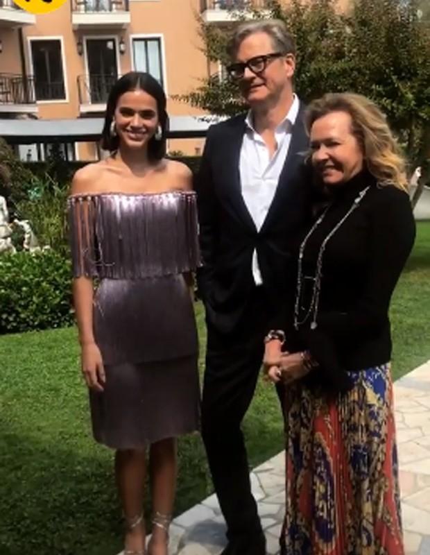 Bruna Marquezine, Colin Firth e Caroline Scheufele (Foto: Reprodução/Instagram)