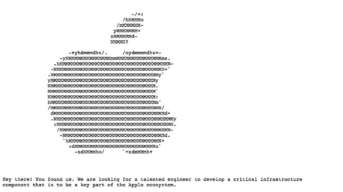 O anúncio de emprego que a Apple escondeu em seu site  fc0c32ec4f5ad