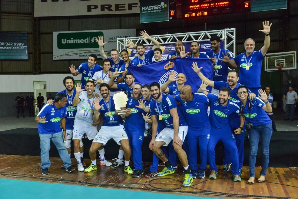 Cruzeiro conquista o pentacampeonato do Sul-Americano de Vôlei (Foto: Uarlen Valerio/O Tempo)