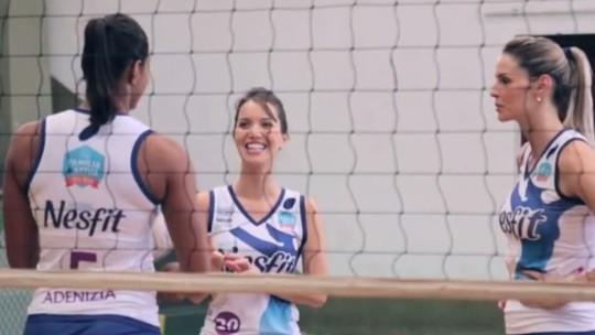 Nathalia Dill entra em cena como jogadora de vôlei