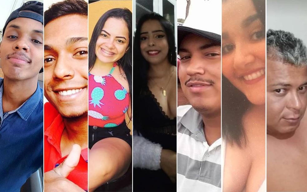 Jefferson, Mateus, Beatriz, Daniela, Maycon, Isadora e Ailton estavam no carro — Foto: Reprodução/Facebook