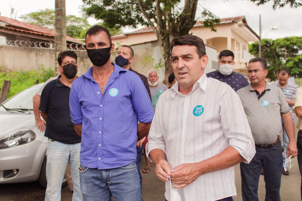 Ronaldo Cardoso, prefeito eleito em Tapiraí, durante campanha — Foto: Reprodução/Facebook
