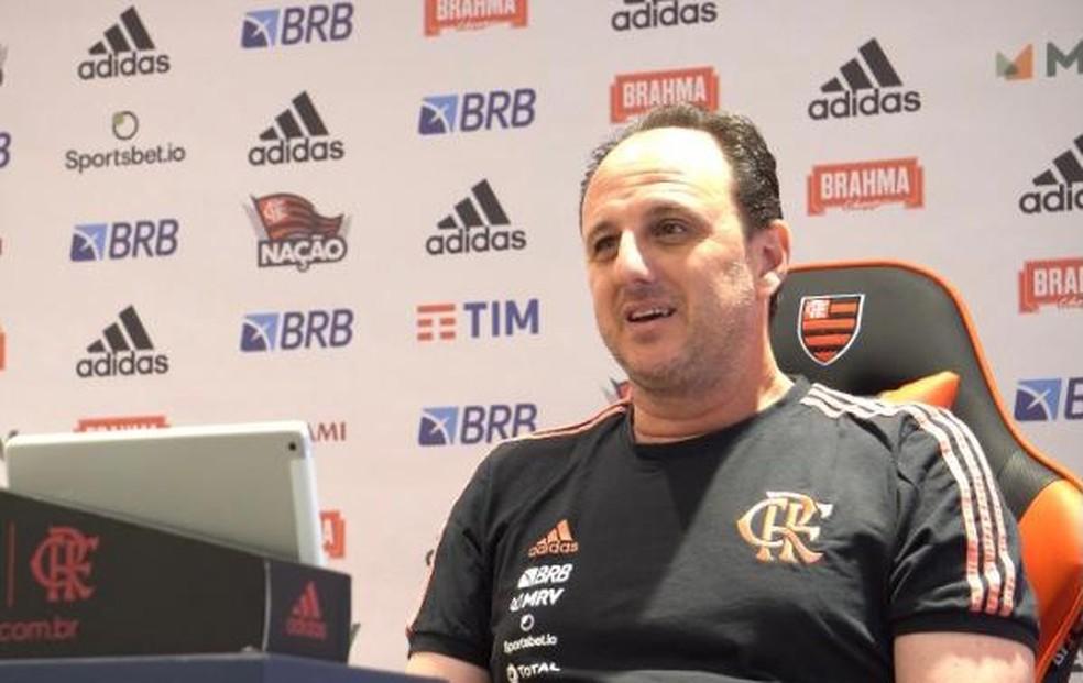 Rogério Ceni, técnico do Flamengo, em entrevista ao EE — Foto: GE