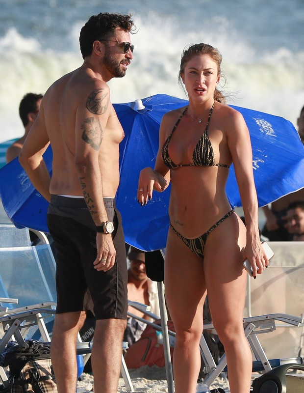 Latino e Jéssica Rodrigues (Foto: Dilson Silva/AgNews)