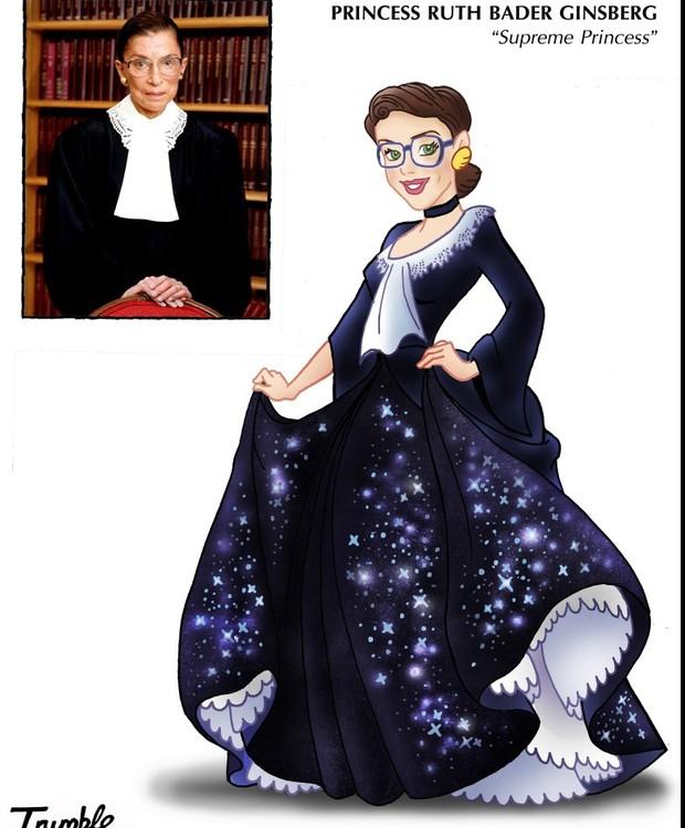 Ruth Bader Ginsberg, princesa suprema (Foto: Trumble/ Reprodução)