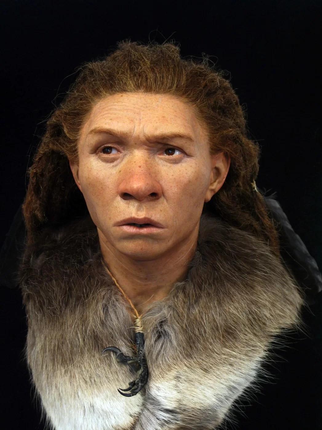 Face reconstruída de mulher Neandertal encontrada em Gibraltar (Foto: Royal Pavilion & Museums; Brighton & Hove)
