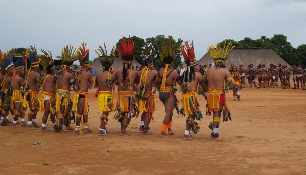 Governo instituiu o grupo de trabalho central para reduzir a propagação da Covid-19 nos territórios indígenas  — Foto: Governo de Mato Grosso