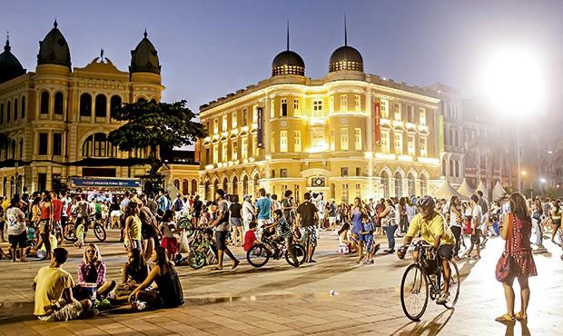 A praça Rio Branco, conhecido marco zero da capital pernambucana (Foto: Andrea Rêgo Barros/Divulgação)