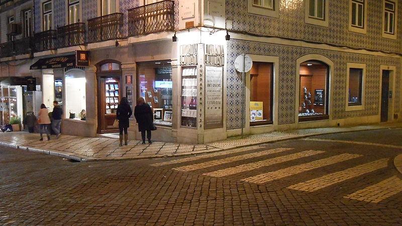 A fachada da livraria Bertrand, no Chiado (Foto: Reprodução)