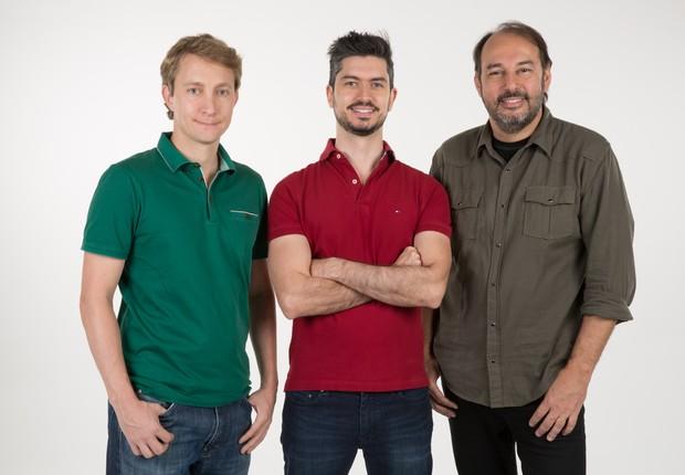 Ariel Lambrecht, Renato Freitas e  Eduardo Musa - fundadores da Yellow (Foto: Divulgação)