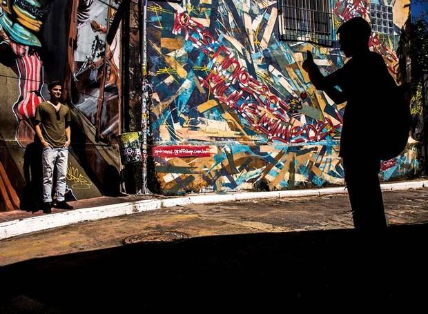 Acompanhados pelo professor Guilherme Zauith em um passeio fotográfico pelo Minhocão, os alunos terão a oportunidade de exercitar um olhar diferente sobre a cidade (Foto: Guilherme Zauith/Divulgação)