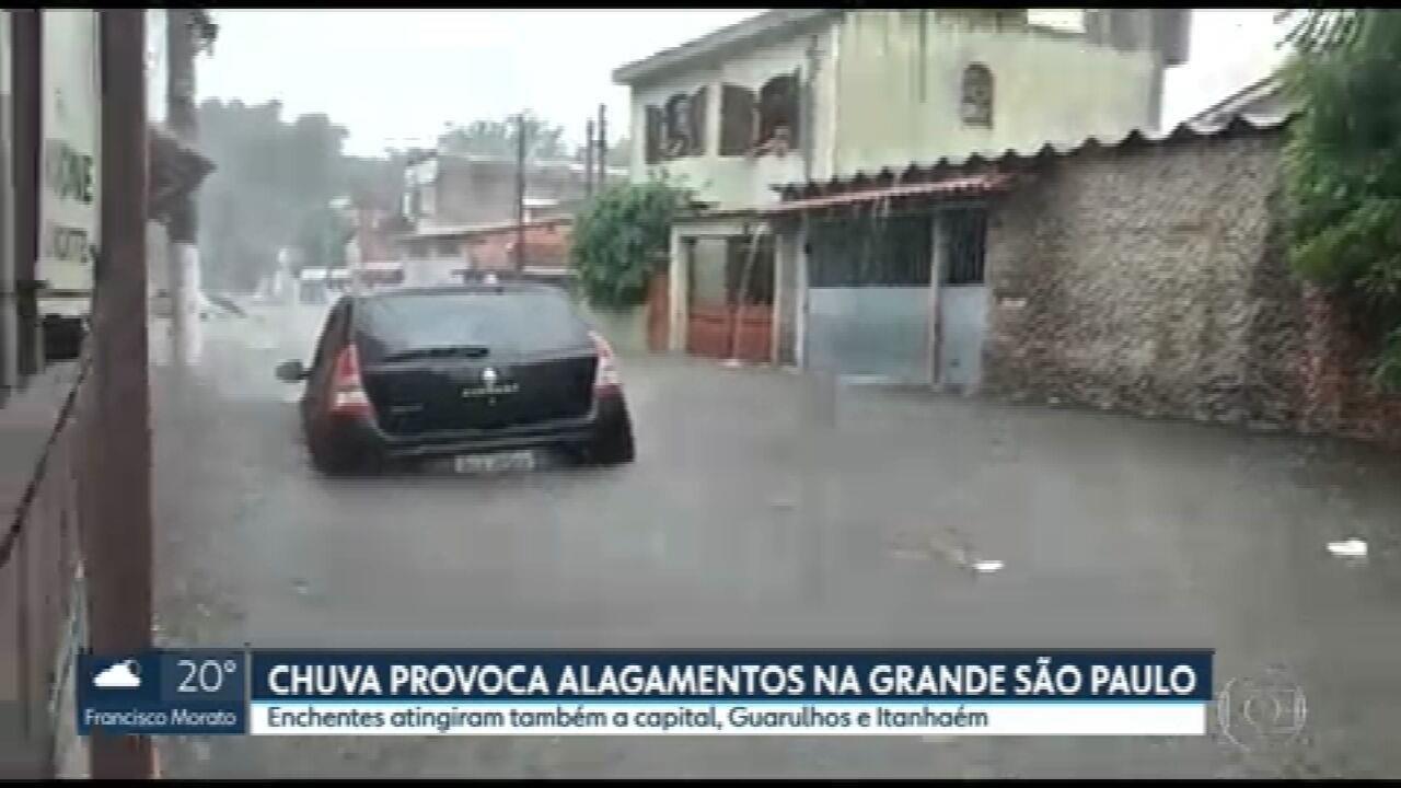 Chuva provoca alagamentos na Grande São Paulo
