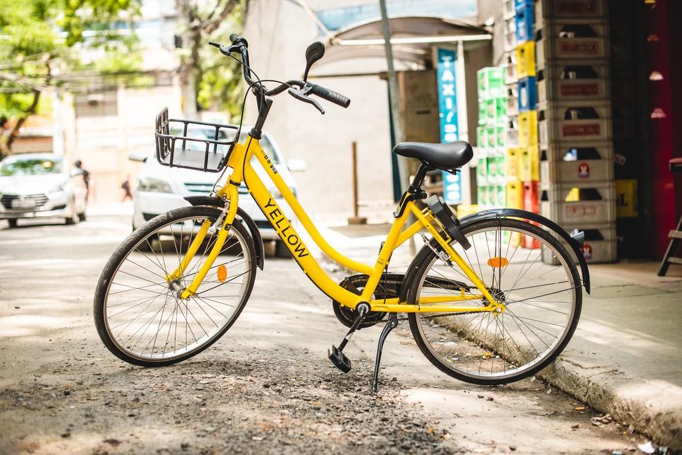Bicicletas poderão ser estacionadas e retiradas em qualquer ponto da Cidade Baixa e Moinhos de Vento — Foto: Elisa de Paula