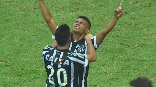 """Haja coração! Chamusca conquista 1º título com Ceará e tranquiliza torcida: """"Estou bem"""""""