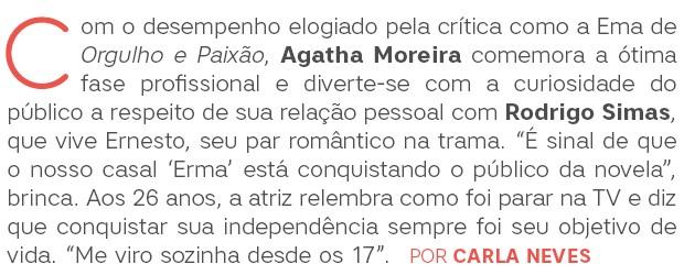 Agatha Moreira abre (Foto:  )