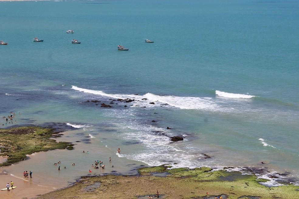 Praia de Baía Formosa, no litoral Sul do RN, 08/01/2018 — Foto: Laercio Cirne