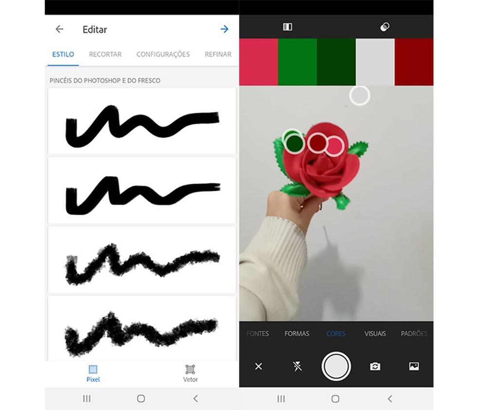 Adobe Capture CC oferece diversos recursos para criação de materiais digitais — Foto: Reprodução/Marcela Franco