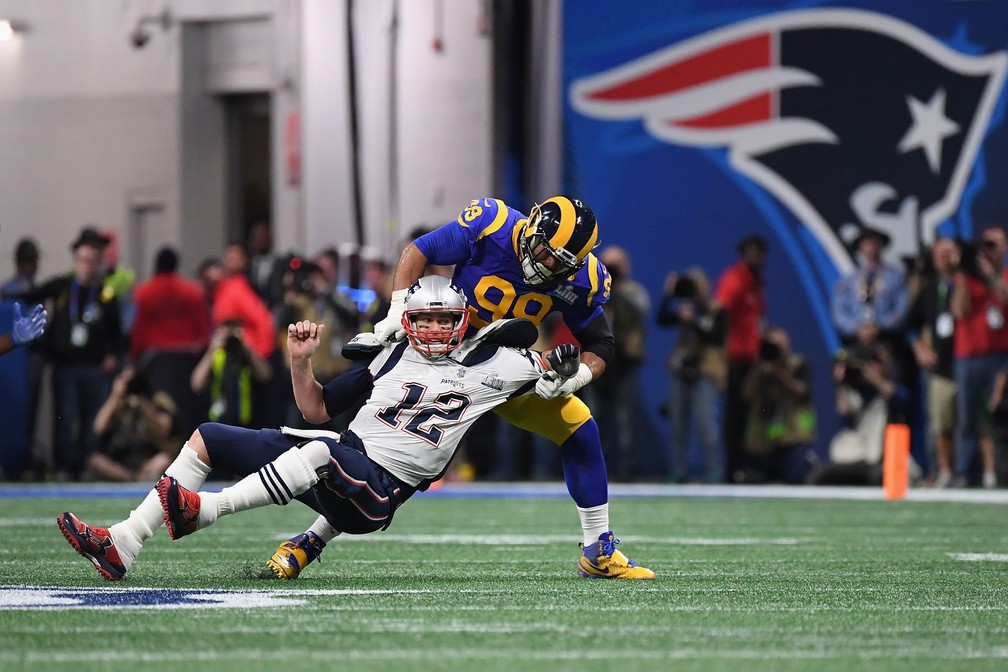 As fortes defesas foram marca no Super Bowl LIII — Foto: Harry How/Getty Images