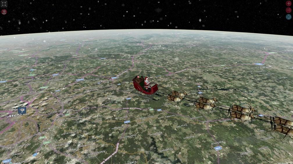 Papai Noel passa pelo Brasil; site rastreia seus movimentos ...