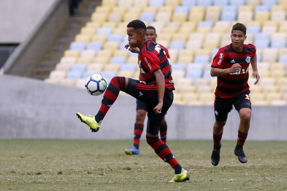 Lázaro Fluminense x Flamengo Copa do Brasil sub-17 — Foto: Staff Images/Flamengo