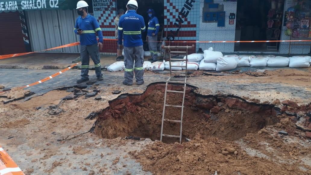 Concessionária Águas de Manaus é notificada após rompimento de adutora no bairro Redenção