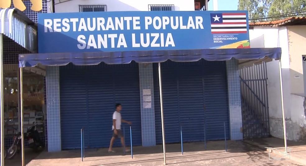Restaurante onde aconteceu a tentativa de homicídio fica na área central de Santa Luzia — Foto: Reprodução/TV Mirante