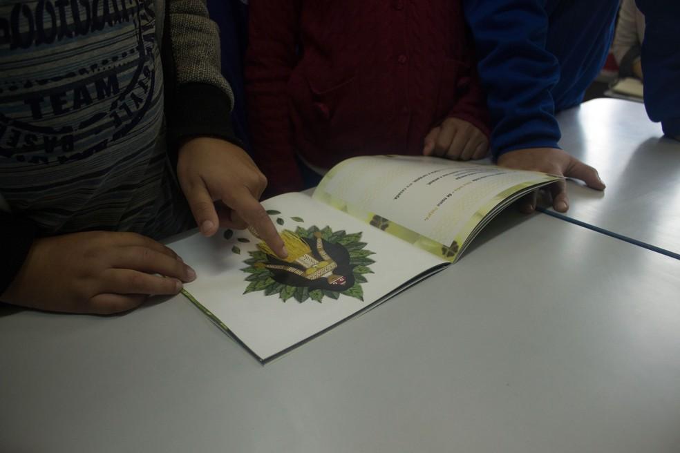 Livros também trazem atividades complementares (Foto: Vanessa Diamante/Arquivo pessoal)